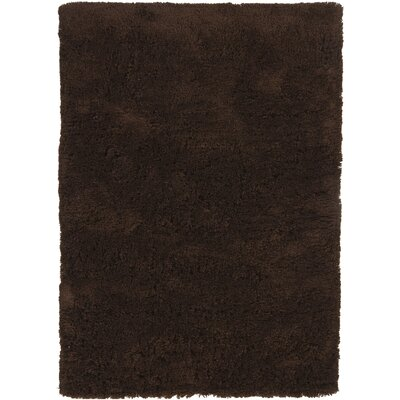 Chandra Rugs Bancroft Shag Dark Brown Rug