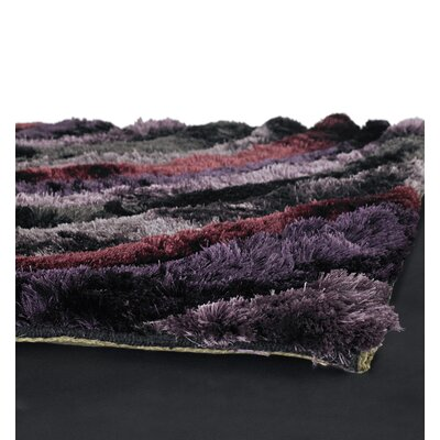 Chandra Rugs Flemish Shag Purple Rug