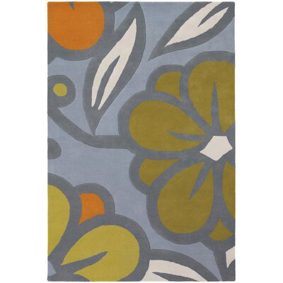Chandra Inhabit Designer Blue/Green Rug