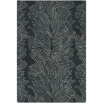 Chandra Rugs Parson Gray Designer Black Rug