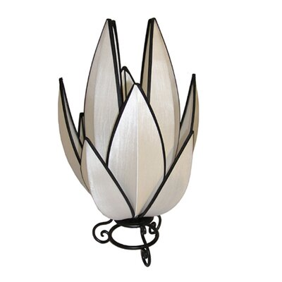 Rovan Artichoke Table Lamp in White and Black