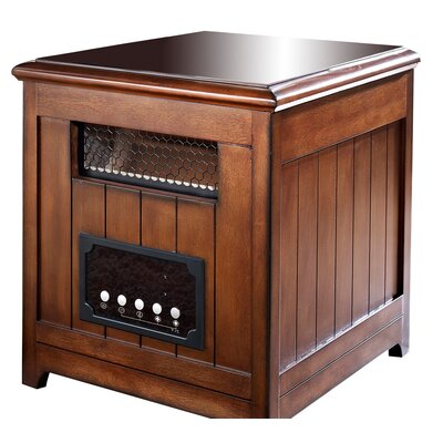 Muskoka Decorative Infrared Cabinet Space Heater with Side Table