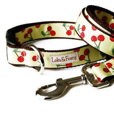 Lola and Foxy Lemon Cherry Dog Collar