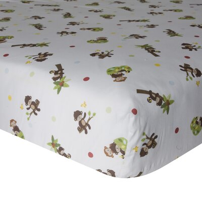 Curly Tails Fitted Crib Sheet