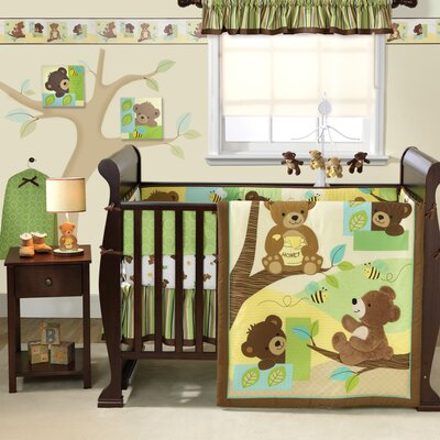 Honey Bear Crib Bedding Collection