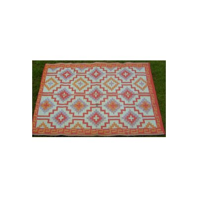 Fab Rugs Lhasa Outdoor Rug in Orange & Violet