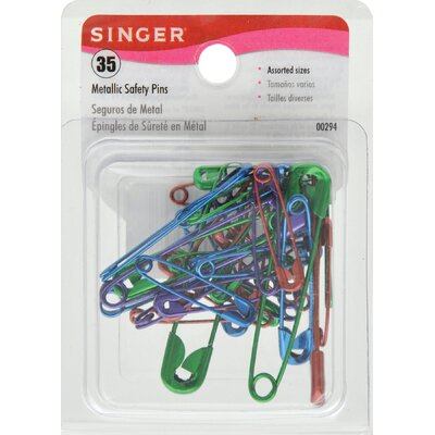 Singer Metallic Safety Pins (Set of 35)