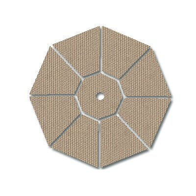 Galtech International 8' X 11' Oval Aluminum Market Umbrella