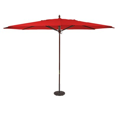 Galtech International 8' X 11' Oval Aluminum Market Umbrella