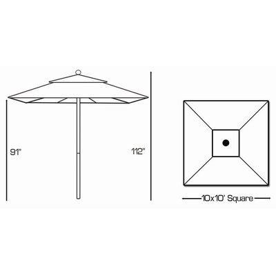 Galtech International 10' Market Umbrella