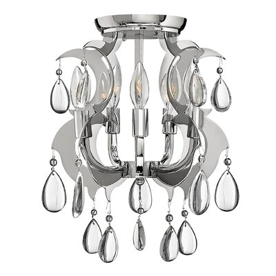 Fredrick Ramond Xanadu 5 Light Semi Flush Mount