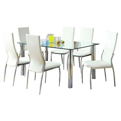 Hokku Designs Chandler 7 Piece Dining Set