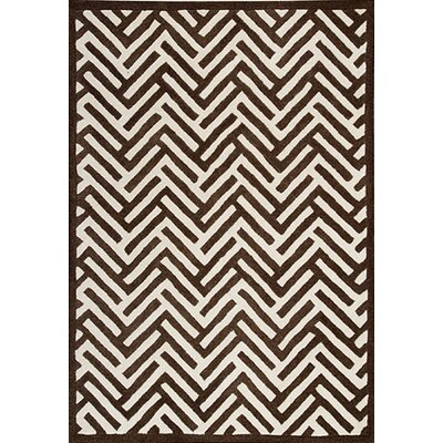 Hokku Designs 0.5Tracks Brown Rug