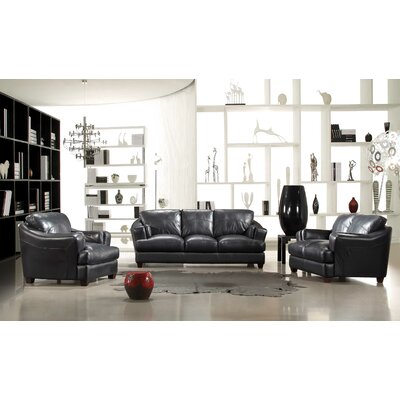 ESP Riotinto 3 Piece Leather Sofa Set