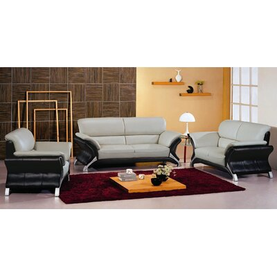 Hokku Designs Keith Leather Loveseat