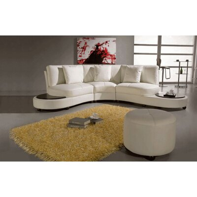 Hokku Designs Pyrite Leather Sectional