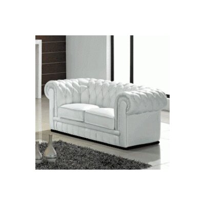 Madeline Leather Loveseat