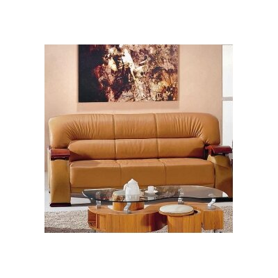 Hokku Designs Chrysocolla Leather Sofa