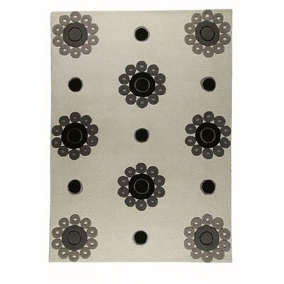 Hokku Designs Como White/Grey Rug