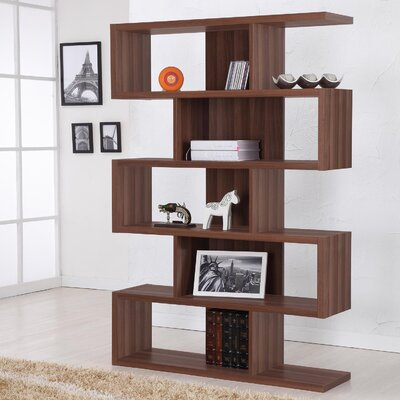 Hokku Designs Marcel Bookcase/Display Stand in Matte Walnut