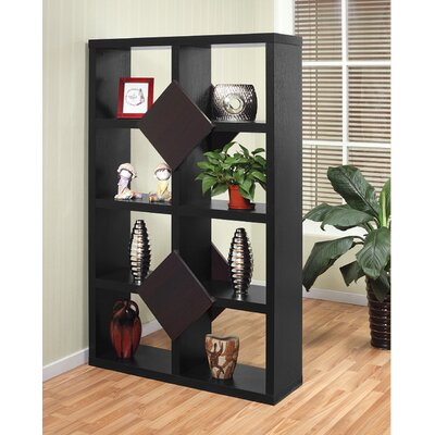 Hokku Designs Gardner Eight-Shelves Bookcase / Display Cabinet in Black