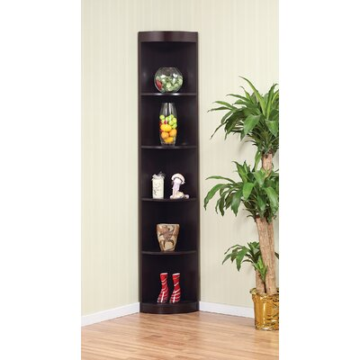 Hokku Designs Tray Five-Shelves Corner Display Cabinet / Stand in Coffee Bean