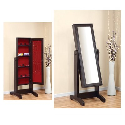 hokku designs gracie cheval jewelry armoire with mirror