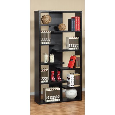 Hokku Designs Payton Eight-Shelves Bookcase / Display Cabinet in Black