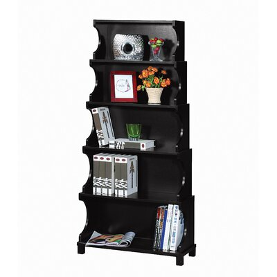 Hokku Designs Cosma Five-Shelves Bookcase / Display Cabinet in Antique Black