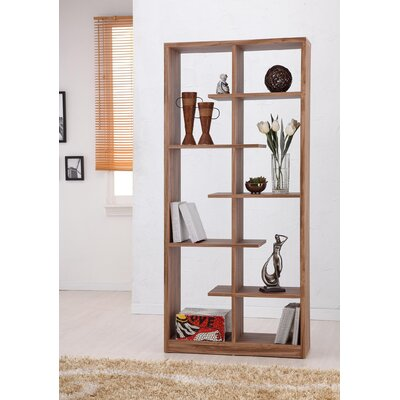 Hokku Designs Gian Five-Shelves Bookcase / Display Cabinet in Light Walnut