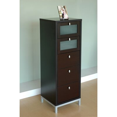 Hokku Designs Basic Modern 5 Drawer Chest
