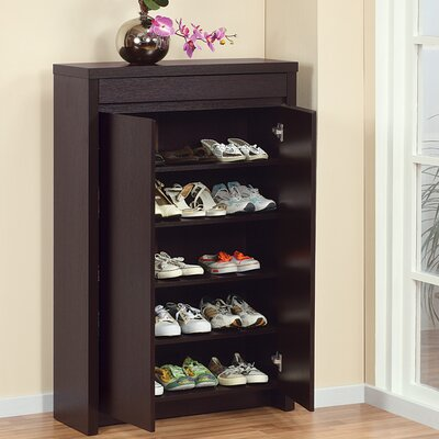 Hokku Designs Hess Studio 5 Shelf Shoe Cabinet