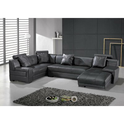 Hokku Designs Houston Leather Sectional
