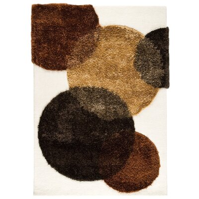 Hokku Designs Elton White/Brown Rug