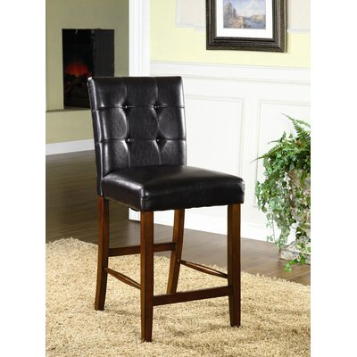 Hokku Designs Serene Leatherette Parson Counter Height Chair in Dark Espresso (Set of 2)
