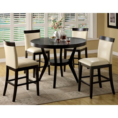 Hokku Designs Arin 5 Piece Counter Height Dining Set