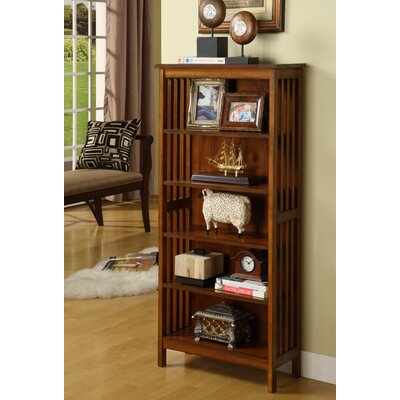 Hokku Designs Valencia Media Shelf/Bookcase in Antique Oak