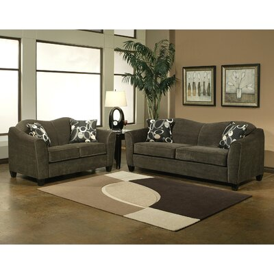 Hokku Designs Tripoli Microsuede Sofa and Loveseat Set