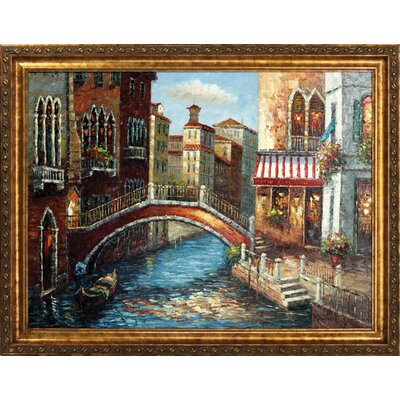 Bridge Across Hand Painted Oil Canvas Art with Frame
