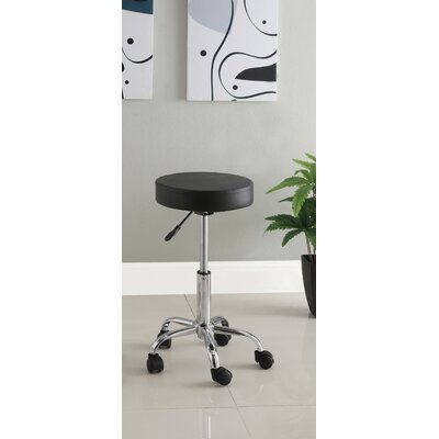 Hokku Designs Ava Leatherette Round Adjustable Bar Stool