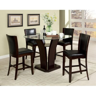 Hokku Designs Uptown 5 Piece Counter Height Dining Set
