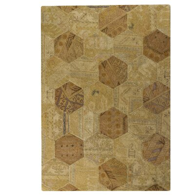 Hokku Designs Honey Comb Siena Light Beige Rug