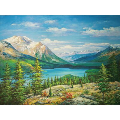 Lake View Oil Painting on Canvas Art - 36