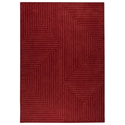 Hokku Designs Maze Red Rug