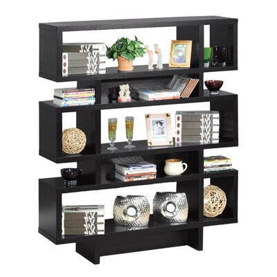 Hokku Designs Celio Three-Tier Bookcase / Display Cabinet in Black