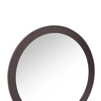 Hokku Designs Newbury Wall Mirror in Red Cocoa