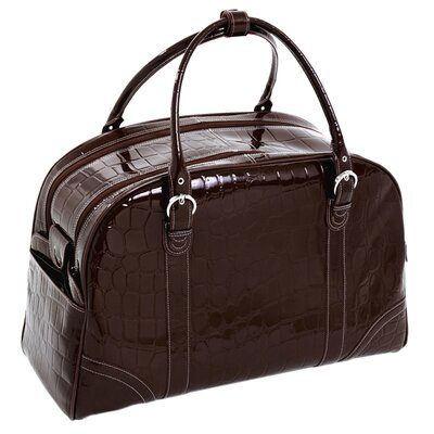 "Siamod Monterosso Buranco 20"" Leather Travel Duffel"