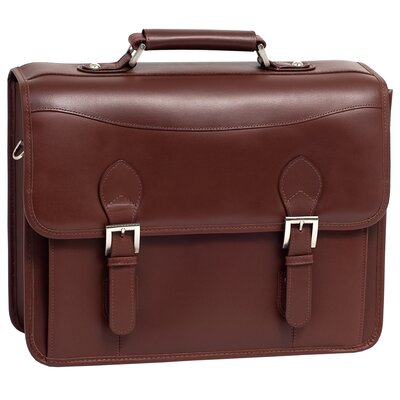 Siamod Manarola Belvedere Leather Laptop Briefcase
