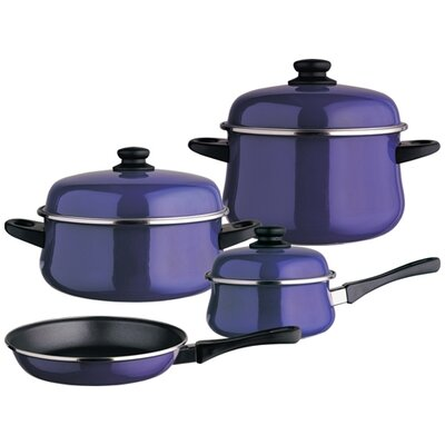 Classic Porcelain on Steel 7-Piece Cookware Set