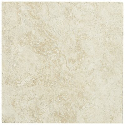 "Shaw Floors Piazza 20"" x 20"" Ceramic Tile in Ivory"